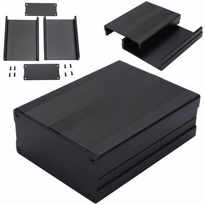 100*76*35mm Aluminum PCB Instrument Box Enclosure Electronic Project Case Black