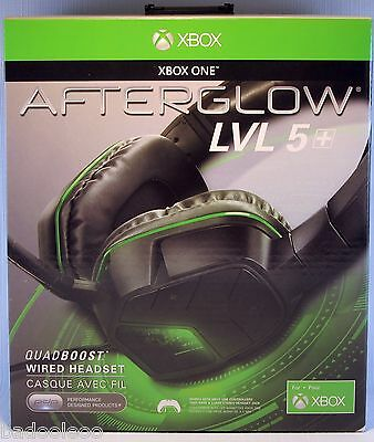 Afterglow LVL 5 Plus Quadboost Wired Headset Black Xbox One PDP