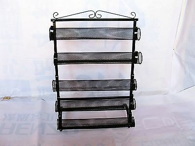 1X New Black Metal 5-Layer Wire Bracelet Display Stand Rack