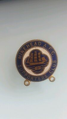 Minehead Supporters Club Football Badge Probably 1950s