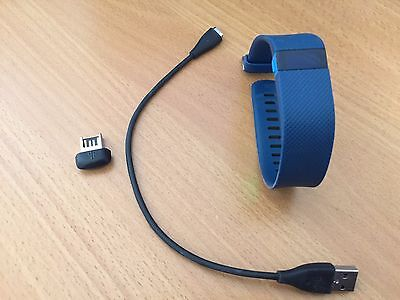 Fitbit Charge HR Heart Rate & Activity Wristband, Blue, Large