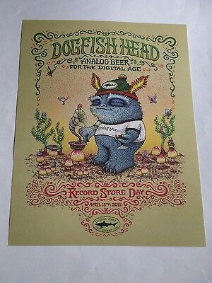 Dogfish Head Beer Record Store Day Poster Marq Spusta Art Promotional 14X18 NEW