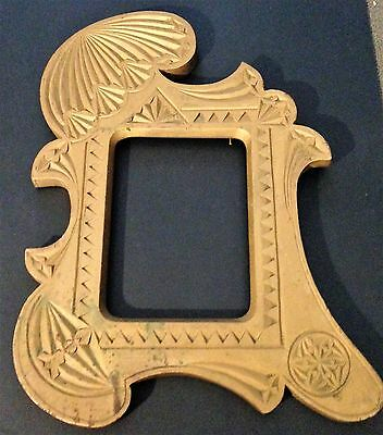 Antique wooden hand carved picture frame early 1900's, antique gold painted