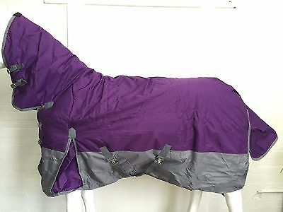600D Purple/grey 300G Winter Stable Horse Combo Rug - 6' 0
