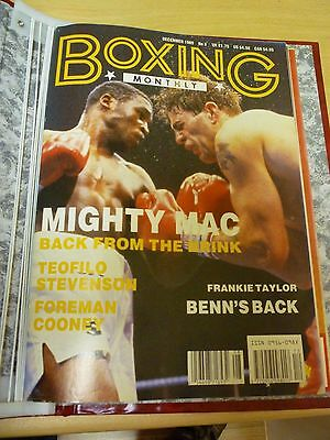 Boxing Monthly Magazine December 1989