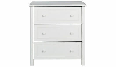 Audley Chest of Drawers - White - 3 Drawer Chest