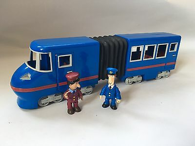 Postman Pat Pencaster Flyer Blue Train With Ajays and Pat