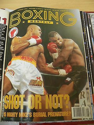 Boxing Monthly Magazine August 1991