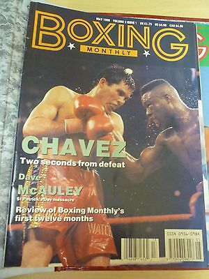 Boxing Monthly Magazine May 1990