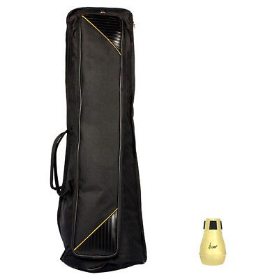Tenor Trombone Silencer Straight Mute & Gig Bag Stage for Musician Accessory