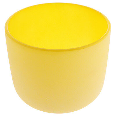 Solar Chakra Crystal Singing Bowl E Note High Quality Sound 7 Inch Yellow