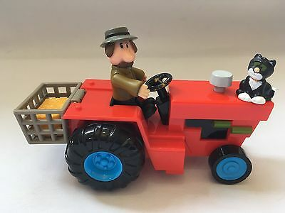 Alf Thompson Farmer Figure With Sds Red Farm Tractor From Postman Pat & Jess