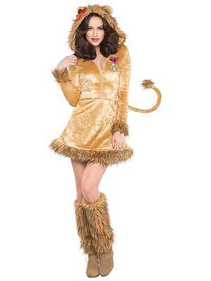 NEW WITH DEFECTS: Lioness Womens Ladies Lion 8-10 Animal Fancy Dress Costume