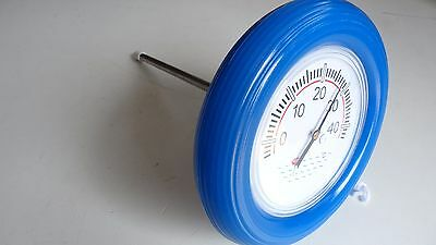 Large Face Blue Floating Swimming Pool And Spa Thermometer