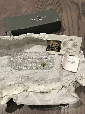 NEW IN BOX - Waterford Crystal Westover Business Card Holder