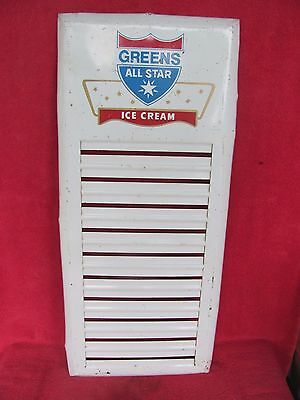 Old Vintage Greens All Star Ice Cream Store Parlor Menu Sign Signs Flavor Board
