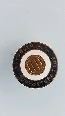 Weymouth Supporters Club Football Badge Probably 1950s