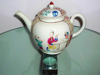 Very Rare Worcester Porcelain Teapot Decorated By James Giles C1770