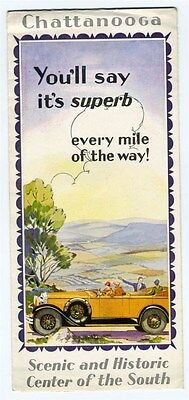 Chattanooga Tennessee Brochure 1920's Scenic & Historic Center of the South