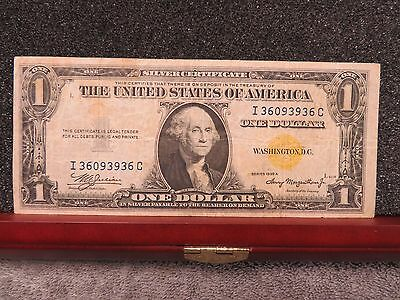 1935A $1 Yellow Seal Silver Certificate- Decent Specimen- Free Shipping!!