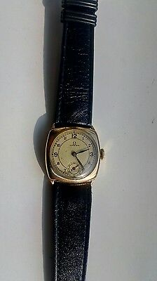 vintage gents 1930s gold plated omega watch