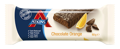 ATKINS 60g advantage Chocolate and Orange Bars (28), free P&P