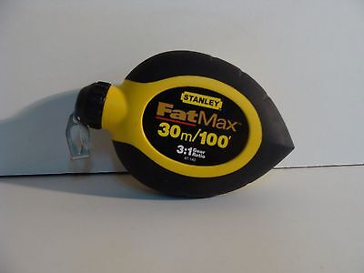 "Stanley 34-130 3/8"" X 100' Foot Fat Max Ss Tape Measure Ruler Sale"