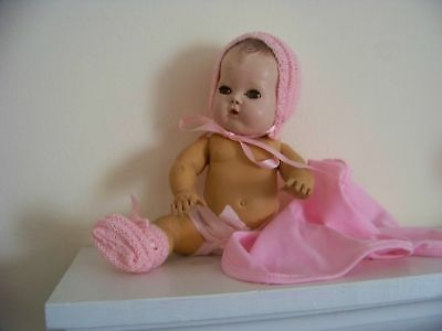 """No Doll Beautiful Bonnet&booties Hand Knit By Me For 15"""" Tiny Tears Betsy Wetsy"""