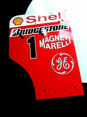 Michael Schumacher Ferrari F1 2001 World Champion 1/1 Replica  Wing Endplate