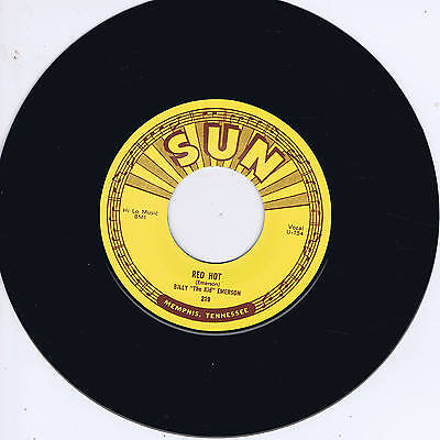 BILLY 'The Kid' EMERSON - RED HOT / NO GREATER LOVE (Killer SUN label BLUES BOP)