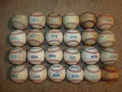 24 baseballs used in NCAA Div 1/Div 2 competition/training