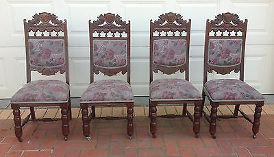 Restored antique / vintage dining chairs x 4