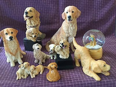 Collection Of Golden Retriever Statues
