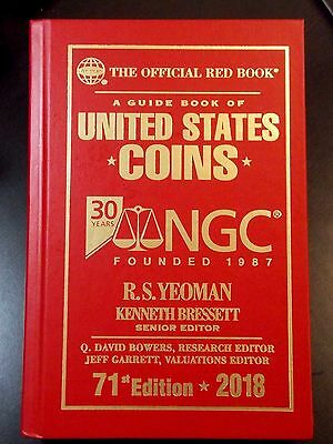 2018 Whitman Official US Coins Red Book, Special Edition NGC 30th Anniversary!