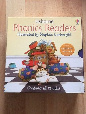 Usborne Phonics Readers 12 books Gift Box Set Collection.