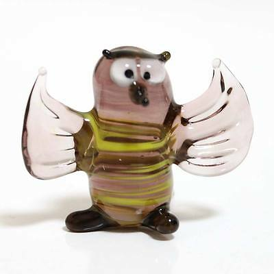 "Blown glass figurine ""Bee"". Russian Murano. Handmade.#68"
