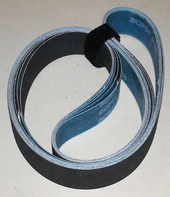 2 X 72  Silicon Carbide Sanding Belt-220, 320, 400, 600, 800, 1200 Grits- 6 Belt
