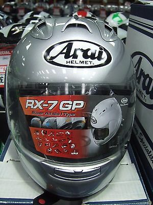 Arai RX 7 GP Silver Full Face Motorcycle Helmet Sale Helmets Size Small