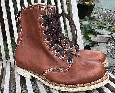DEADSTOCK VINTAGE 60's PENNYS BIG MAC BROWN LEATHER CREPE SOLE ANKLE WORK BOOTS