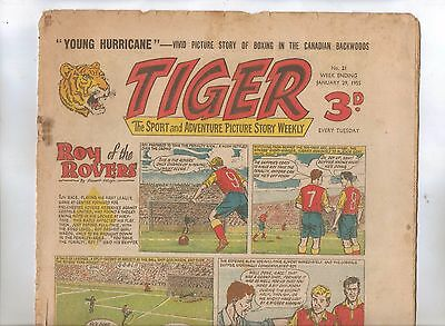 Tiger Comic No 21 (1955) - VG/VG+ - Roy of the Rovers