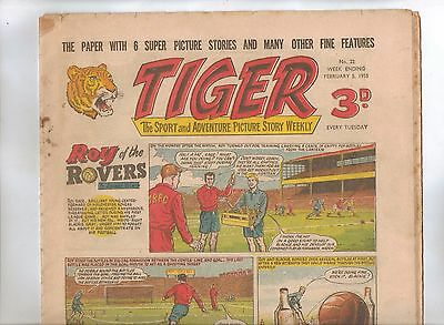 Tiger Comic No 22 (1955) - VG/VG+ - Roy of the Rovers
