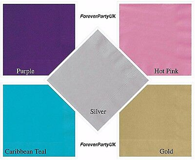Paper Napkins Lunch Serviettes 2ply 33cm Tableware Colour Party Wedding Quantity