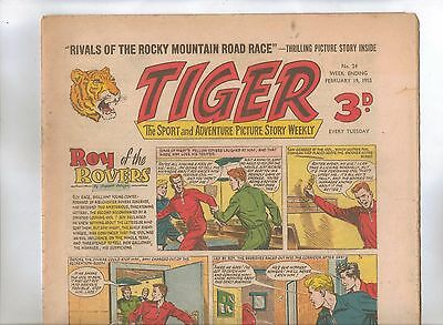 Tiger Comic No 24 (1955) - VG/VG+ - Roy of the Rovers