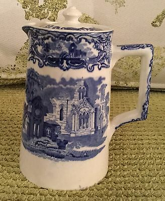 George Jones & Sons Beautiful Abbey 1790 Design Coffee Pot Blue & White