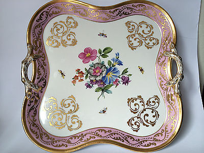 Antique Limoges Sevres Porcelain Hand Painted Serving Tray