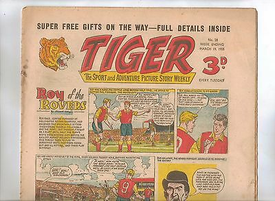 Tiger Comic No 28 (1955) - VG/VG+ - Roy of the Rovers