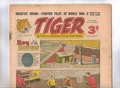 Tiger Comic No 31 (1955) - VG/VG+ - Roy of the Rovers