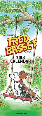 Fred Basset Slim 2018 Office Appointments Wall Calendar - Salmon Calendars