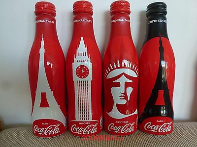 New Coca Cola France 4 Bottles Bouteilles Cities 2017