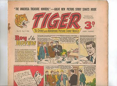 Tiger Comic No 35 (1955) - VG/VG+ - Roy of the Rovers